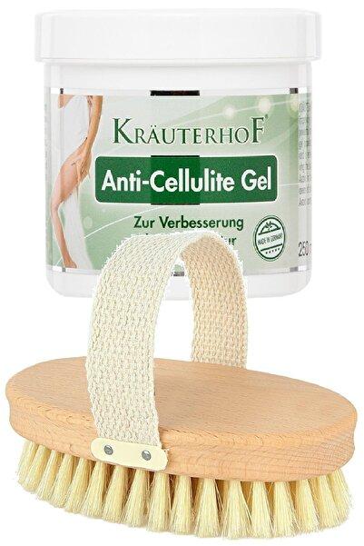 Krauterhof Anti-cellulite Gel 250ml + %100 Doğal Masaj Fırçası