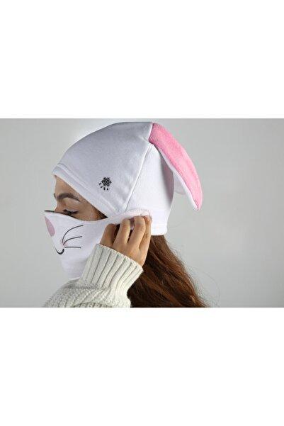 Bittigoo Kaşa- Tavşanlı Çocuk Maskeli Bere