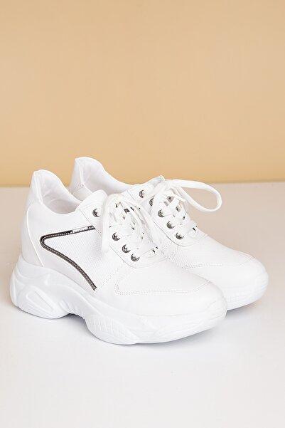 Pierre Cardin Kadın Beyaz Günlük Spor Ayakkabı  Pc-30283