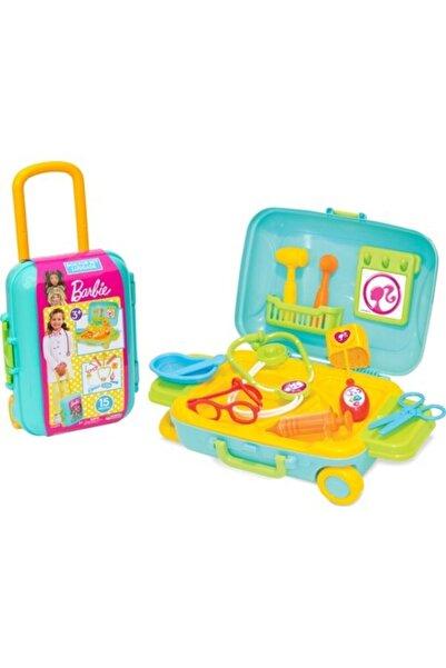 DEDE Barbie Doktor Set Bavulum 9 Parça Çek Çek Bavul Doktor Seti