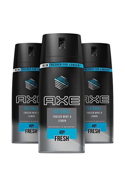 Axe Erkek Deodorant Sprey Ice Chill 150 ml X3