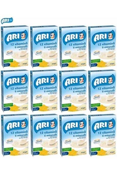 Arı Mama Pirinç Unu 200gr Sütlü 12 Vitaminli 6 Mineralli (12 Li)