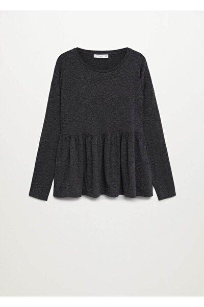 MANGO Woman Kadın Koyu Eflatun Rengi T-Shirt 77927883