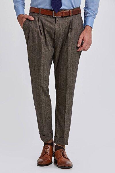 Hemington Yün Kaşmir Kum Rengi Chino Pantolon