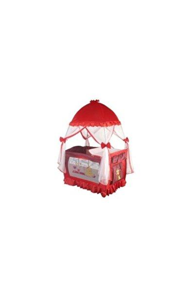 Papetto Kubbeli Oyun Parkı 76x110 Cm Op-06 Lüks Park Beşik Kırmızı Renk