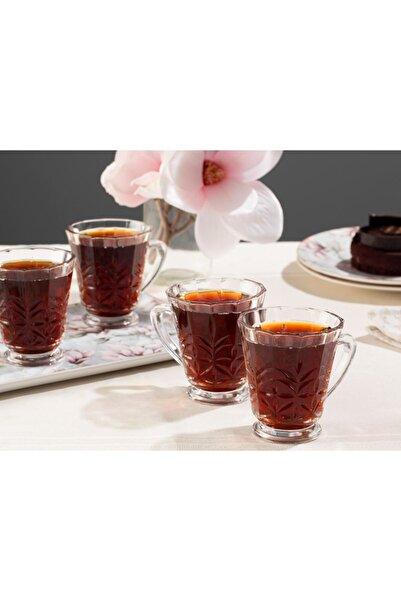 English Home Şeffaf Catty Cam 4'lü Kulplu Çay Bardağı 195 ml