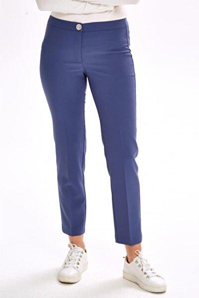 İKİLER Yanları Süs Dikişli Standart Fit Pantolon 201-3502
