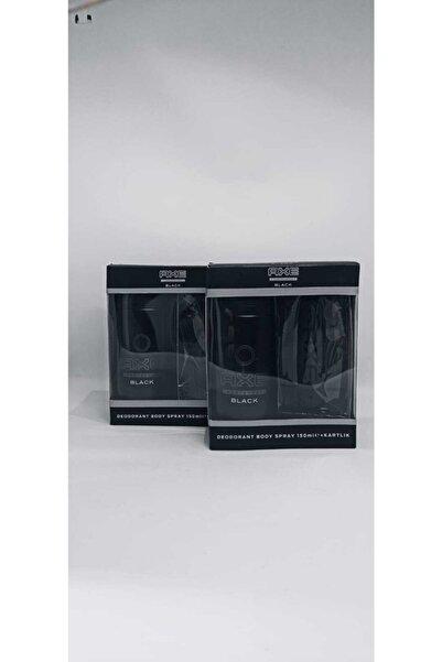 Axe Black Deodorant 150 Ml + Kartlık 2x