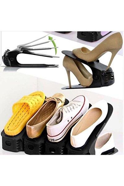 KARİN EV 10 'lu Set Yükseklik Ayarlı 4 Kademeli Ayakkabı Rampası Siyah