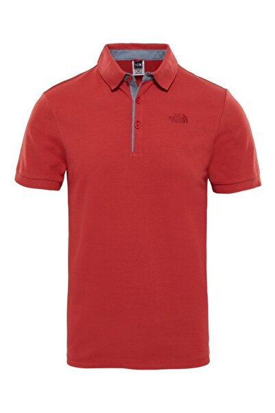 THE NORTH FACE Premium Polo Pıquet Erkek T-shirt Kırmızı