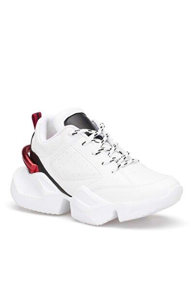 DARK SEER Beyaz Kırmızı Kadın Sneaker