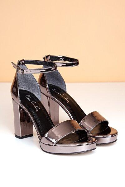 Pierre Cardin Pc-50167 Rugan Platin Kadın Ayakkabı