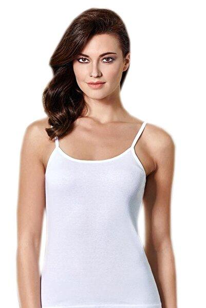 Berrak Kadın Beyaz 6'lı Paket Ip Askılı Atlet Elf568ber2016b26b366