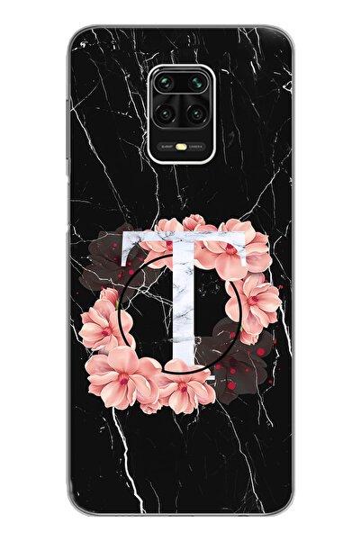 Spoyi Mermer Tasarım Süper Şeffaf Silikon Telefon Kılıfı Xiomai Redmi Note 9 Pro - Note 9s T-harfi