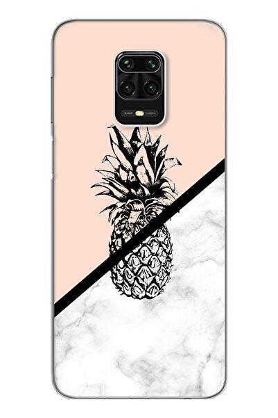 Spoyi Ananas Tasarım Süper Şeffaf Silikon Telefon Kılıfı Xiomai Redmi Note 9 Pro - Note 9s