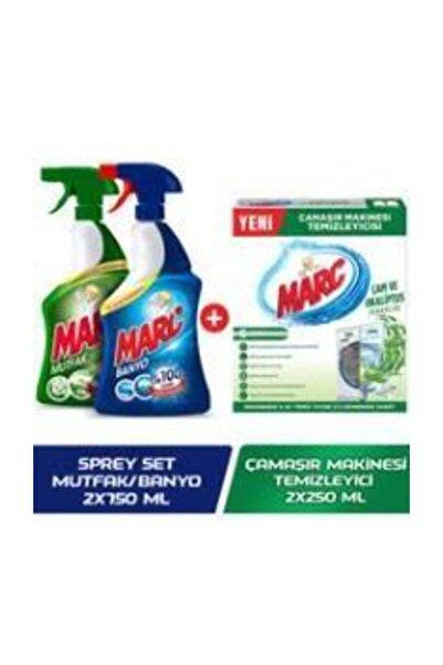 Marc C?amas?ır Makinesi Temizleyici C?am Okaliptus + Yağ Çözücü Ve Kireç Sökücü 2'li Sprey Set