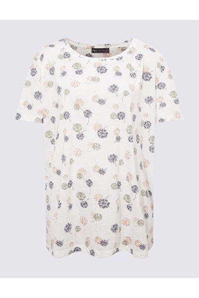 Marks & Spencer Çiçek Desenli Yuvarlak Yaka Bluz
