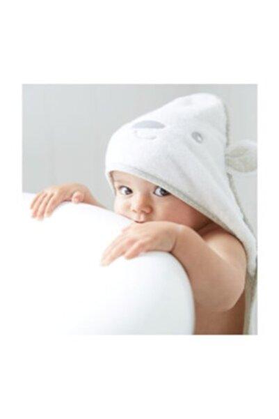 MOTHERCARE Beyaz Pamuklu Bebek Havlu Kundak Ayıcık