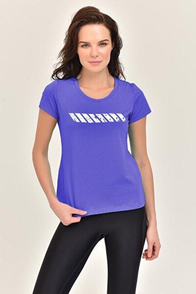 bilcee Mor Likralı Pamuklu Kadın T-shirt Ew-3006