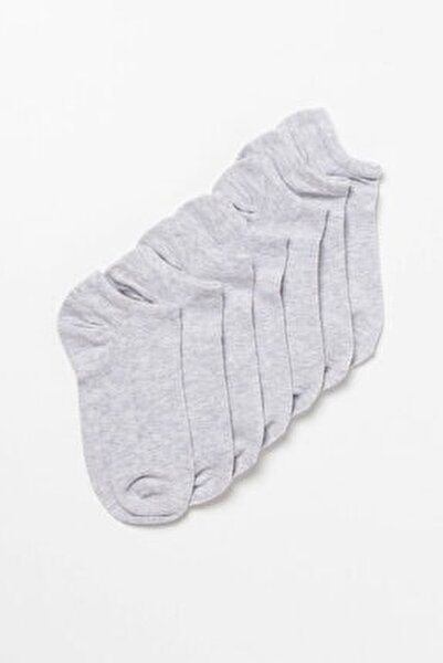 7 Pck Step Kadın Çorap -gri
