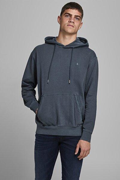 Jack & Jones Erkek Eskitme Kapüşonlu Sweatshirt - 12174457
