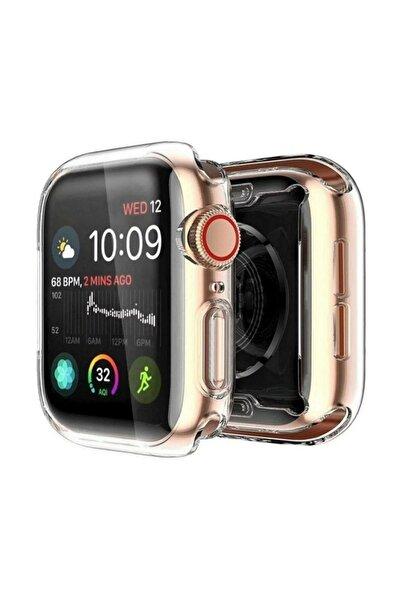 Gate Apple Watch 1 2 3 Uyumlu Şeffaf Silikon Kılıf 40mm Watch 40mm Tam Ekran Koruyucu