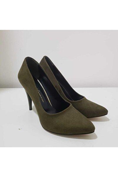 ESSTİİ Kadın Süet Haki Yeşil Stiletto