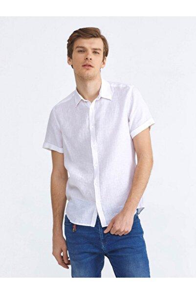 Xint Xınt %100 Keten Slim Fit Basic Gömlek