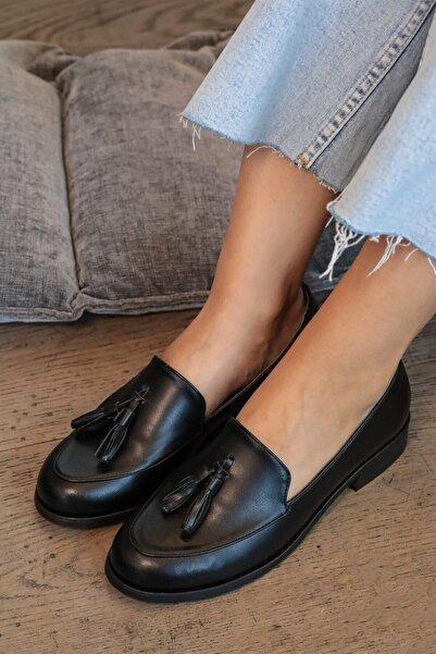 Mio Gusto Iris Siyah Oxford Ayakkabı