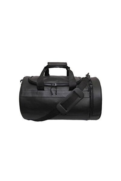 Beutel Duffel Bag Silindir Spor Çantası - Siyah