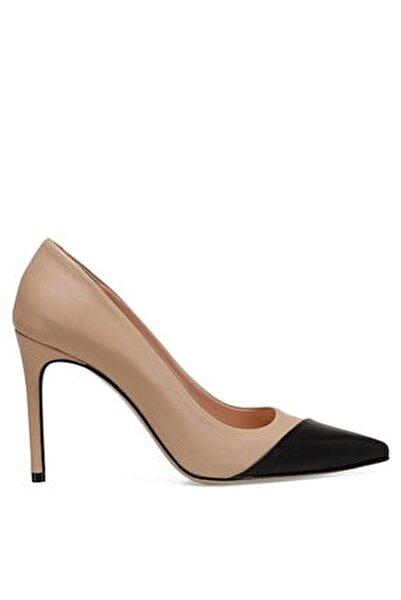 TRELO Naturel Kadın Hakiki Deri Topuklu Ayakkabı 100526680