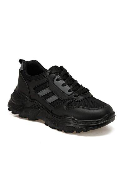 Torex Lea W Siyah Kadın Fashion Kalın Taban Sneaker Spor Ayakkabı