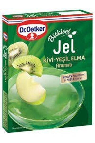 Dr. Oetker Kivi ve Yeşil Elma Aromalı Bitkisel Jöle 100 gr
