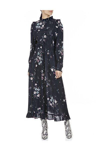Replay Kadın Siyah Viskoz Elbise