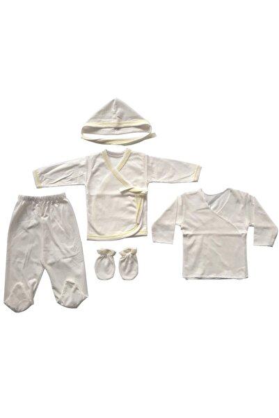 bebegen 5'li Iç Zıbın Set Krem Sarı Biyeli