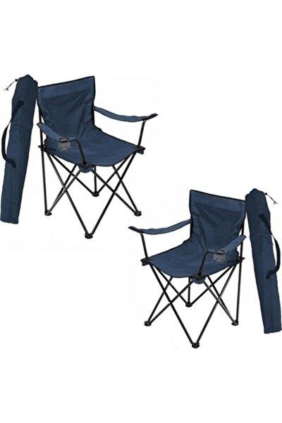 Toysan Lacivert Katlanır Çantalı Kamp Sandalyesi 2 Adet