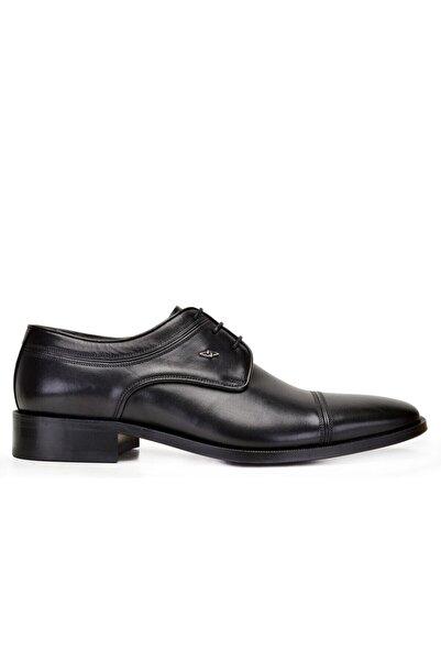 Nevzat Onay Erkek Siyah Hakiki Deri Klasik Bağcıklı Kösele Ayakkabı -8795-