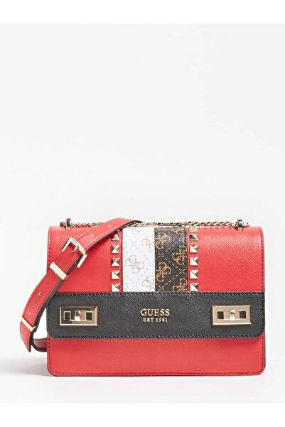 Guess Kadın Kırmızı Katey Çapraz Çanta