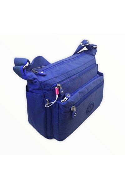 SMART BAGS Kadın New Mavi Krinkıl Kumaş Çapraz Çanta Smb1238