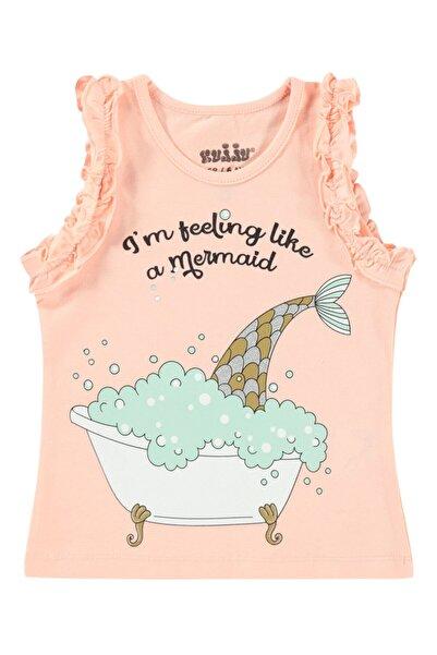 Kujju Kız Bebek Tişört 6-18 Ay Pudra Pembe
