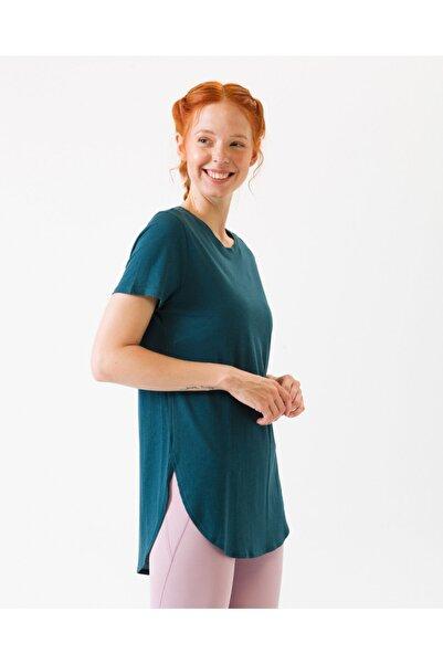 SKECHERS Restore Tunıc Wto13 Teal Kadın Mavi Tshirt