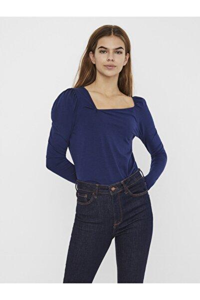 Vero Moda Yaka Detaylı Uzun Kollu Bluz 10247475 Vmpanda