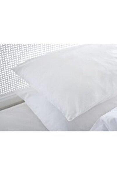 Düz Pamuklu Tekli Yastık Kılıfı 70x70 Cm Beyaz