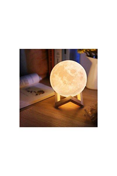 Paçal Ticaret Ahşap Ayaklı Dokunmatik Şarjlı Ay Küre Gece Lambası