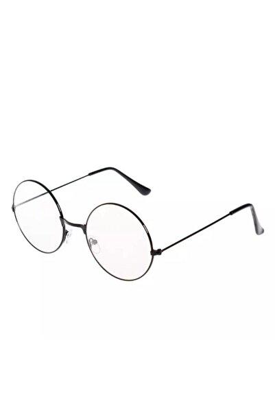 Aybars aksesuar Unisex Siyah Yuvarlak Harry Potter Şeffaf Gözlük