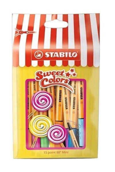 Stabilo Sweet Colors 88 Mini Pen 15 Renk /