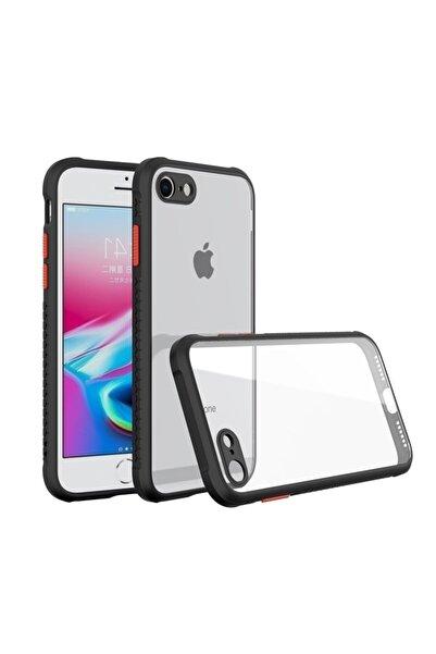 Apple Teleplus Iphone Se 2020 Kılıf Bumper Kamera Korumalı Silikon Siyah