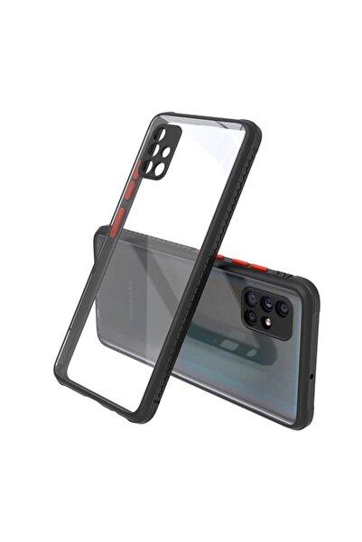 Samsung Teleplus Galaxy A71 Kılıf Bumper Kamera Korumalı Silikon Siyah