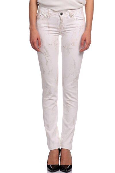 Maje Kadın Beyaz Jean Pantolon