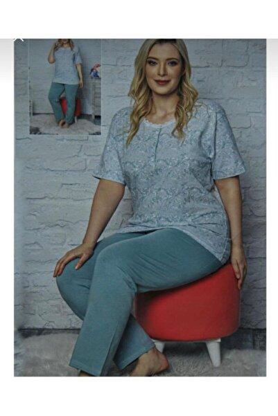 Sude Düğmeli Kısa Kol Kadın Pijama Takımı 1110